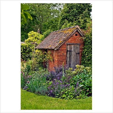 Pinterest the world s catalog of ideas for Brick garden shed designs