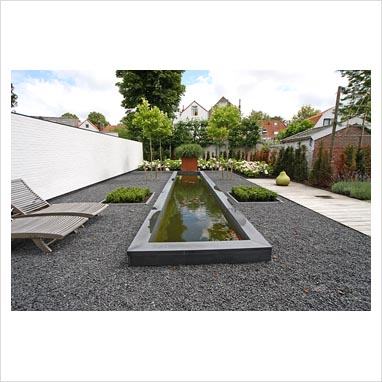 Gap Photos Garden Plant Picture Library Modern Garden With Rectangular Raised Pond And