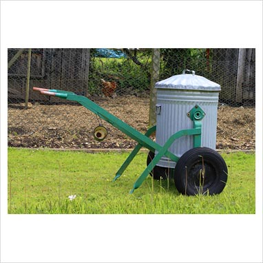Gap photos garden plant picture library galvanised bin attached to set of wheels used as for Portable watering tanks for gardens