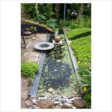 Gap Photos Garden Plant Picture Library Rectangular Pond With Stoneware Pot By Gordon