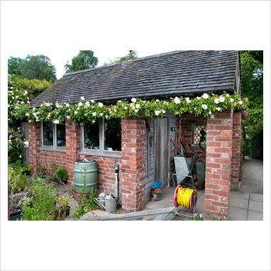 GAP Photos - Garden & Plant Picture Library - Brick shed ...